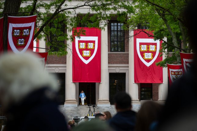 Harvard and MIT filed a lawsuit seeking to block a Trump administration policy that would strip international students of visas if the university they attend moves to online-only instruction. File Photo by Matthew Healey/UPI