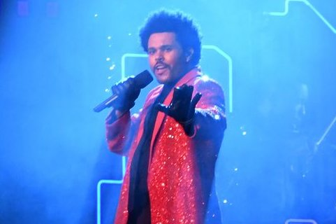 The Weeknd performs during the Super Bowl LV halftime show on February 2021. The Weeknd has earned a leading eight nominations at the iHeartRadio Music Awards, followed by Megan Thee Stallion and Roddy Ricch with seven. File Photo by Kevin Dietsch/UPI