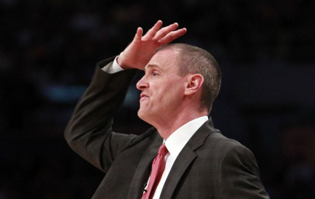 Dallas Maverick's head coach Rick Carlisle, shown in a May 2011 file photo, was fined by the NBA Friday. UPI/Christine Cotter