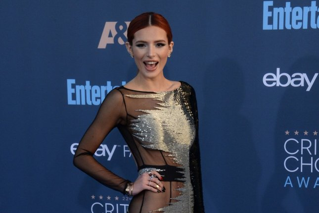Bella Thorne attends the Critics' Choice Awards on December 11, 2016. The actress received a giant bouquet Wednesday after she was spotted getting close to Scott Disick. File Photo by Jim Ruymen/UPI