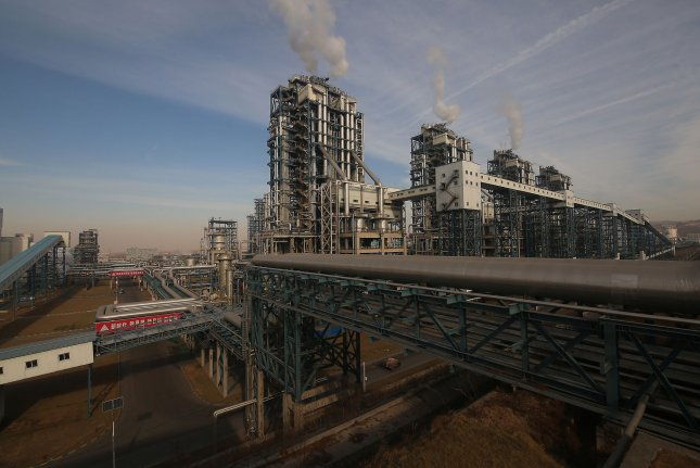 Coal power still fuels 70 percent of China's energy production. File Photo by Stephen Shaver/UPI