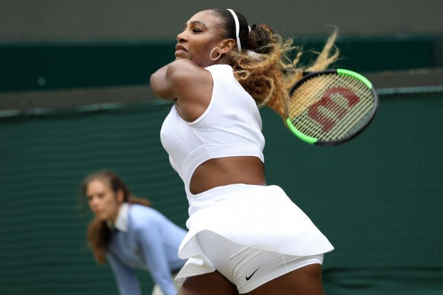 American Serena Williams is looking to win her eighth Wimbledon title and record 24th Grand Slam at the All-England Club in London. Photo by Hugo Philpott/UPI