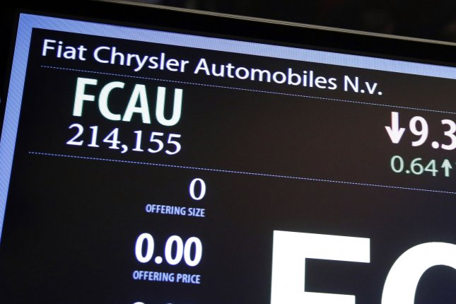Dealerships will begin fixing the problem on May 22, FCA said. File Photo by John Angelillo/UPI