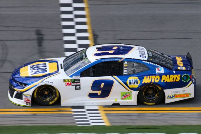 Chase Elliott, the 2020 NASCAR Cup Series champion, is among the favorites to win the 2021 Daytona 500 on Sunday in Daytona Beach, Fla. File Photo by Mike Gentry/UPI