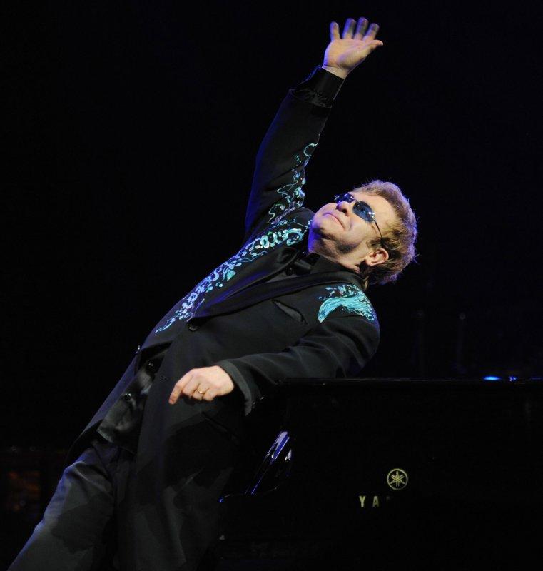 British singer/pianist Elton John perfoms at the Royal Opera House in London on January 28, 2011. UPI/Rune Hellestad