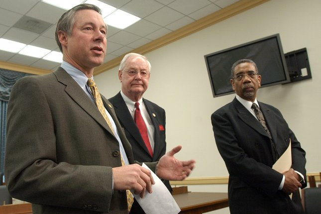 Rep. Fred Upton, R-Mich., applauds passage of a bill that would keep a pipeline authority funded and probe a months-long natural gas leak in California. File Photo by Roger L. Wollenberg/UPI