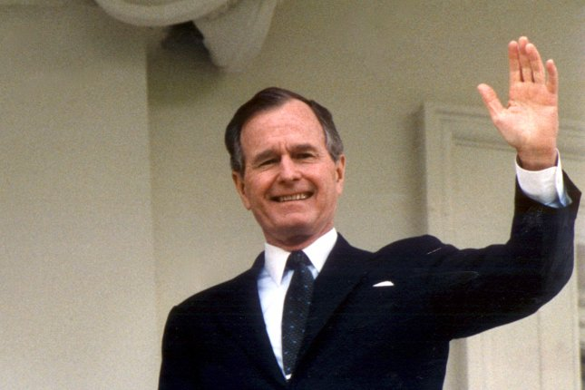 On Aug. 12, 1992, President George H.W. Bush announced the completion of the North American Free Trade Agreement with Mexico and Canada. UPI File Photo