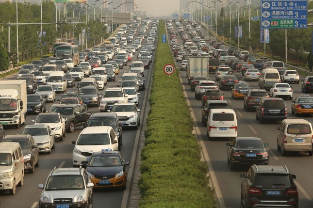 Economists say dynamic tolls could help alleviate traffic on congested roads. Photo by Stephen Shaver/UPI
