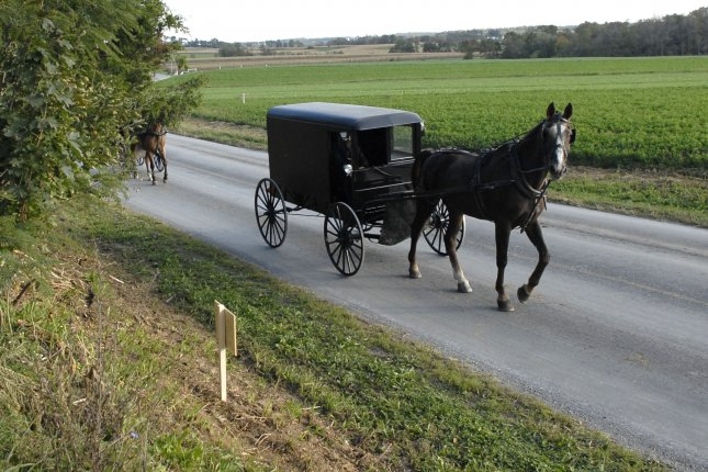 Amish residents counter in a lawsuit they are not harming anyone with their traditional way of living. File Photo by Kevin Dietsch/UPI