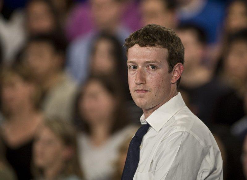 Facebook CEO Mark Zuckerberg. UPI/Terry Schmitt
