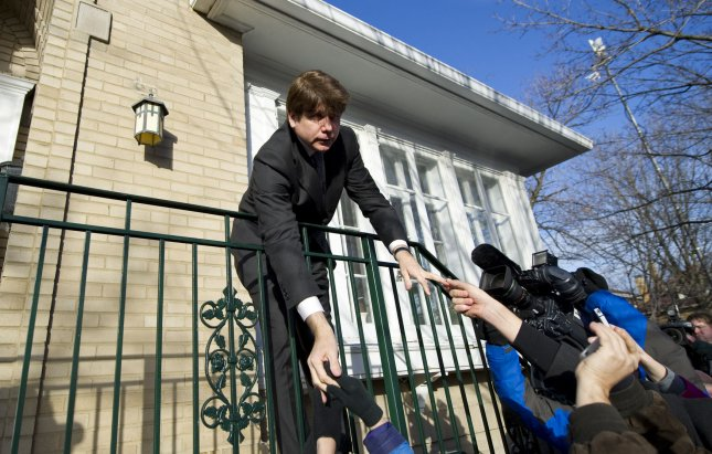 The Chicago home of former Illinois Gov. Rod Blagojevich, who is serving a 14-year prison sentence, has been taken off the market, a family spokesman said. File photo. UPI/Brian Kersey
