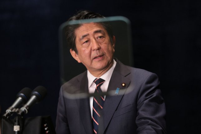 Japanese Prime Minister Shinzo Abe exchanged a phone call with Donald Trump on Thursday but Tokyo is treading uncharted waters with the U.S. president-elect. Pool Photo by Cai Yang/UPI