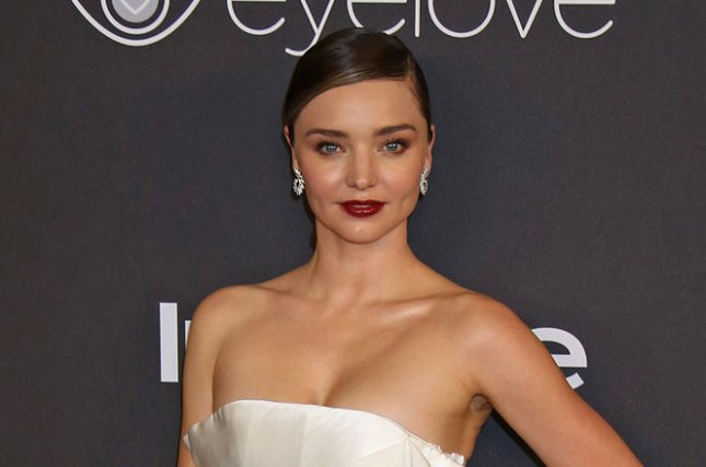 Miranda Kerr at the InStyle and Warner Bros. Golden Globes after-party on January 8. File Photo by David Silpa/UPI
