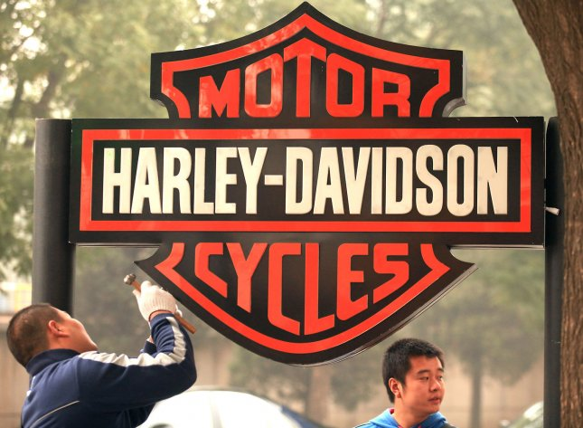 Harley-Davidson issued a recall for about 251,000 motorcycles worldwide due to a possibility of brake failure. Photo by Stephen Shaver/UPI