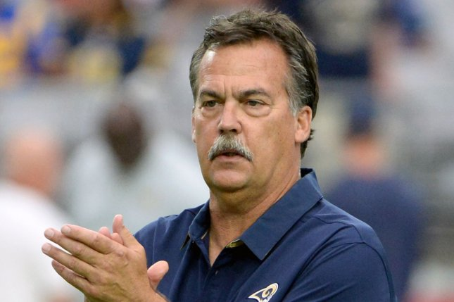 Jeff Fisher last coached the Los Angeles Rams in 2016 before being fired. File Photo by Art Foxall/UPI