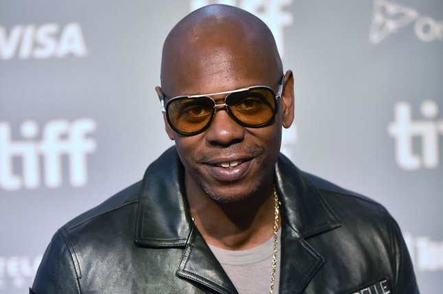 Dave Chapelle has tested positive for COVID-19, but has not experienced any symptoms, his representative confirmed.  File Photo by Christine Chew/UPI