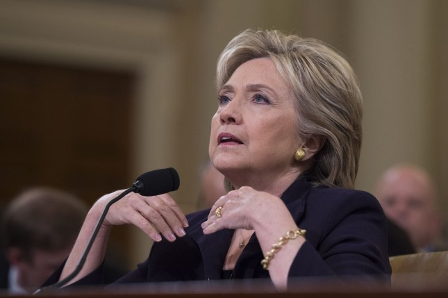 Former Secretary of State and Democratic presidential hopeful Hillary Clinton testifies before the Select Committee on Benghazi on Capitol Hill in Washington DC, October 22, 2015. Clinton appears in a long-awaited appearance to answer questions about the 2012 deadly attack on the U.S. diplomatic mission in Benghazi, Libya. Photo by Molly Riley/UPI