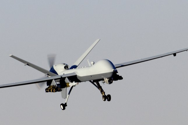 An Air Force MQ-9 Reaper prepares to land after a mission in support of Operation Enduring Freedom in Afghanistan on November 27, 2009. Photo by Brian Ferguson/U.S. Air Force