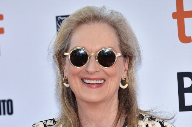 Meryl Streep can now be seen in the trailer for Let Them All Talk, a film that will be streaming on HBO Max on Dec. 10. File Photo by Chris Chew/UPI