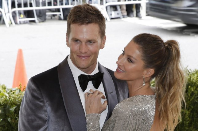 NFL star Tom Brady and his wife, model Gisele Bundchen (R), still own the Massachusetts house, but the couple moved to Florida after the quarterback signed a two-year contract with the Tampa Bay Buccaneers this past off-season. File Photo by John Angelillo/UPI