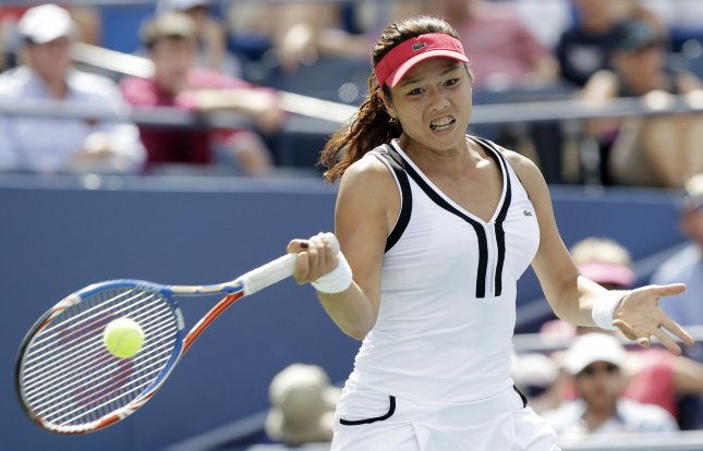 Yung-Jan Chan, shown during this year's U.S. Open, dropped a first-round match Tuesday at the WTA tournament in China. UPI/John Angelillo
