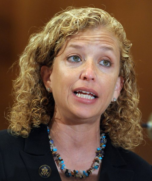 Rep. Debbie Wasserman Schultz, D-Fla., chairwoman of the Democratic National Committee, in Washington, May 13, 2009. (UPI Photo/Roger L. Wollenberg)