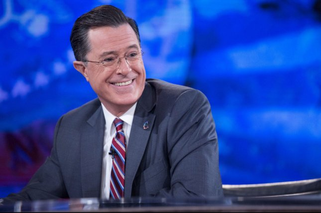 Stephen Colbert debuts as Late Show host on Sept. 8. File Photo by Andrew Harrer/Pool