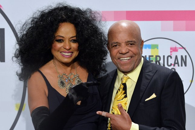 Diana Ross (L), pictured with Berry Gordy, spent her birthday with family and friends in Los Angeles. File Photo by Jim Ruymen/UPI
