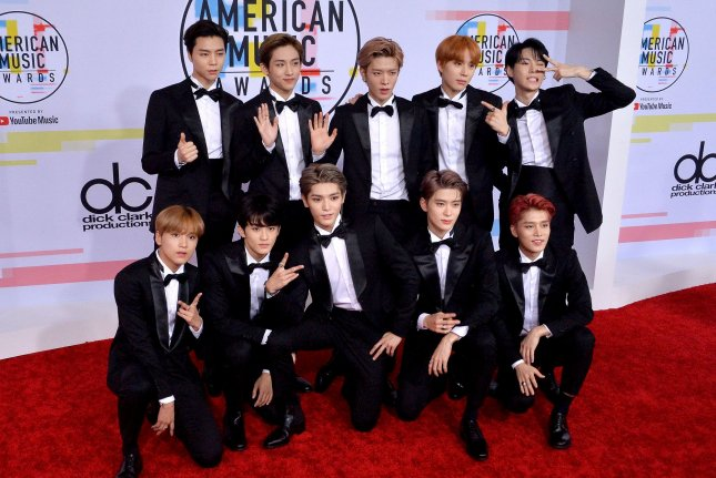 NCT 127, shown here at last year's American Music Awards, appeared on the Late Late Show with James Corden this week. File Photo by Jim Ruymen/UPI