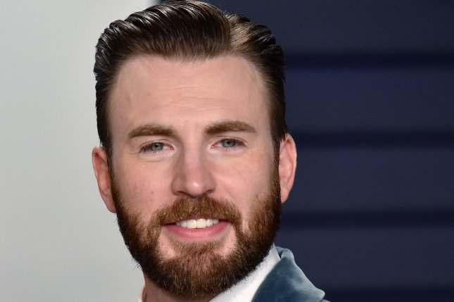 Chris Evans said you never say never when asked by Scarlett Johansson if he would return as Captain America. File Photo by Christine Chew/UPI