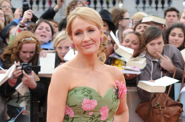 British author JK Rowling attends the World premiere of Harry Potter And The Deathly Hallows Part 2 in London on July 7, 2011. The author revealed there was at least one Jewish student at Hogwarts. File photo by Rune Hellestad/UPI