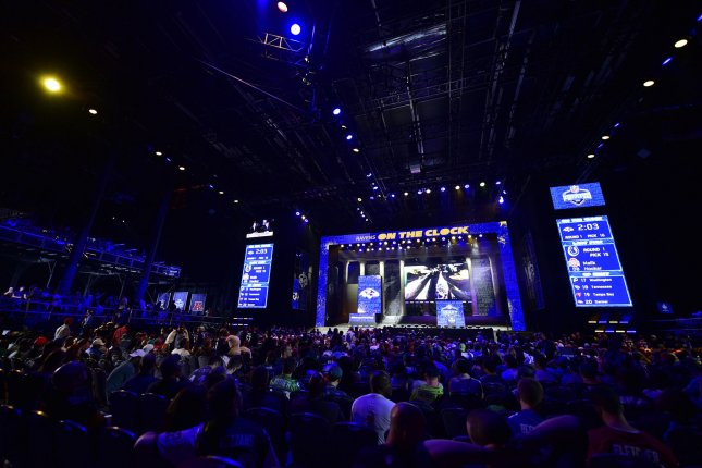 Overall view of the NFL Draft Theater during the 2017 NFL Draft in Philadelphia, PA on April 27, 2017. The 82nd NFL Draft returned to Philadelphia for the first time in more than 50 years and runs from April 27-29. Photo by Derik Hamilton/UPI