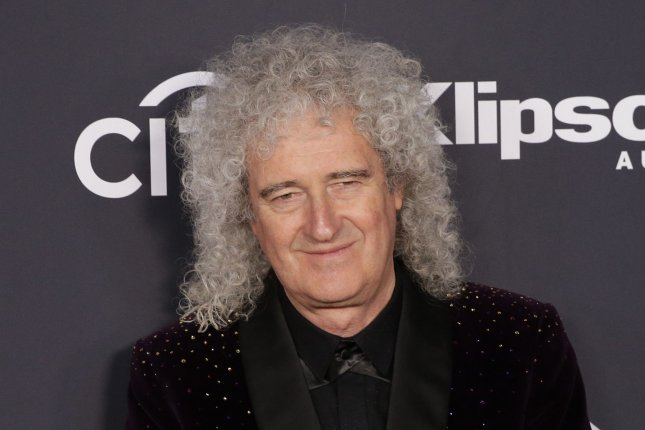 Brian May arrives on the red carpet at the 34th annual Rock and Roll Hall of Fame induction ceremonies at Barclays Center in New York City on March 29. The Queen guitarist turns 72 on July 19. File Photo by John Angelillo/UPI