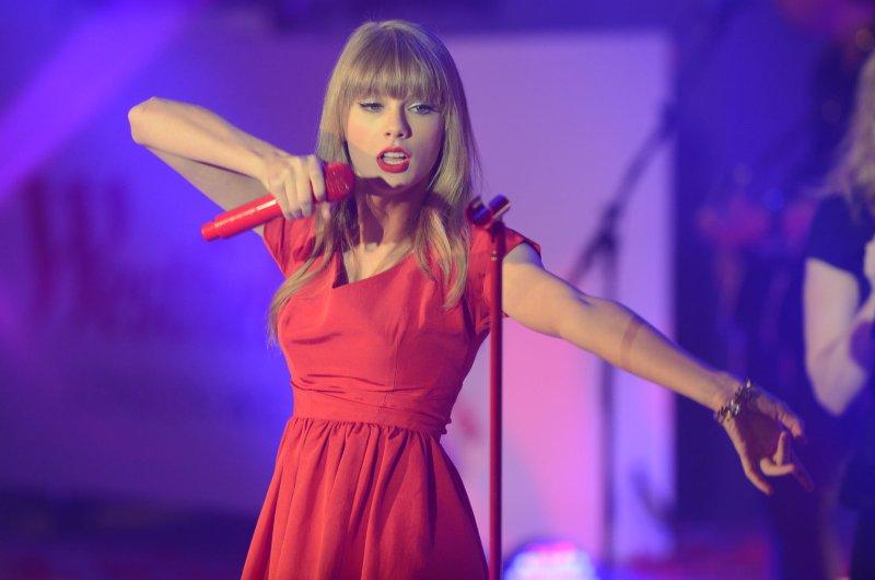 American singer Taylor Swift performs at Westfield in London on November 6, 2012. UPI/Rune Hellestad