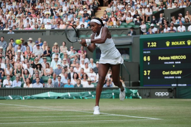 American Cori Gauff will take the court for her second career Grand Slam tournament at the 2019 U.S. Open in two weeks in Queens. File Photo by Hugo Philpott/UPI