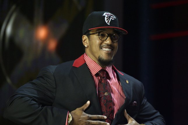 The Atlanta Falcons selected Vic Beasley in the first round of the 2015 NFL Draft out of Clemson. File Photo by Brian Kersey/UPI