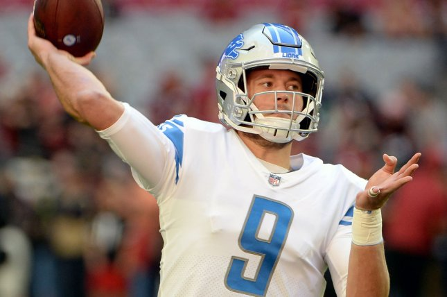 Detroit Lions quarterback Matthew Stafford, a Pro Bowl selection in 2014, is entering his 12th season with the Lions. File Photo by Art Foxall/UPI