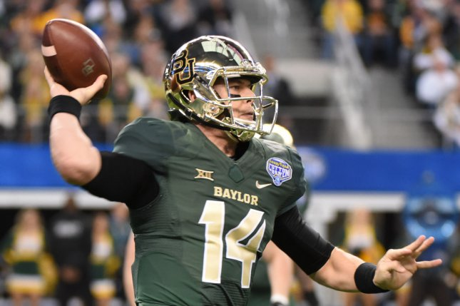 As a senior, Baylor Bear's Bryce Petty passed for 3,855 yards and 29 touchdowns along with six rushing touchdowns. Petty will get fir first NFL start against the Rams. Photo by Ian Halperin/UPI