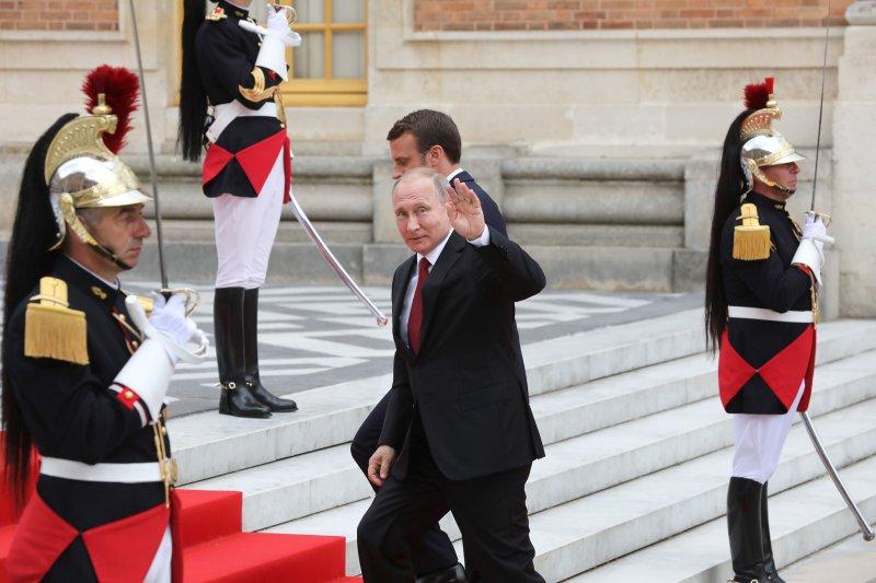Russian President Vladimir Putin visits Paris on May 29. Photo by Maya Vidon-White/UPI