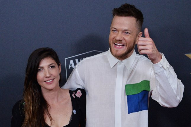 Dan Reynolds (R) and Aja Volkman have reconciled since their split in 2018. File Photo by Jim Ruymen/UPI