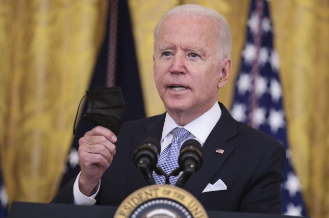 President Joe Biden on Thursday announced he will require all federal workers and contractors to get vaccinated against COVID-19 or face restrictions, while also encouraging states and employers to offer incentives.Photo by Oliver Contreras/UPI