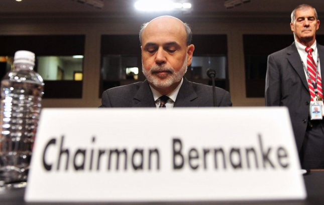 Federal Reserve Chairman Ben Bernanke waits before testifying before a Joint Economic Committee hearing on the economic outlook on Capitol Hill in Washington, D.C. on October 4, 2011. UPI/Kevin Dietsch