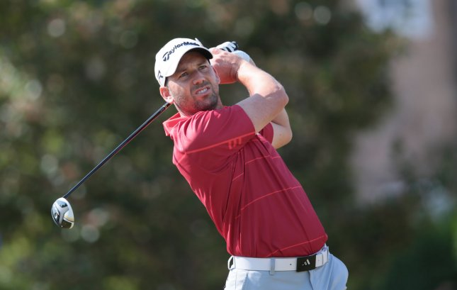 Sergio Garcia, shown a tournament last July, won the European Tour's Qatar Masters and moves to No. 9 in the men's world golf rankings as of Monday. UPI/Hugo Philpott