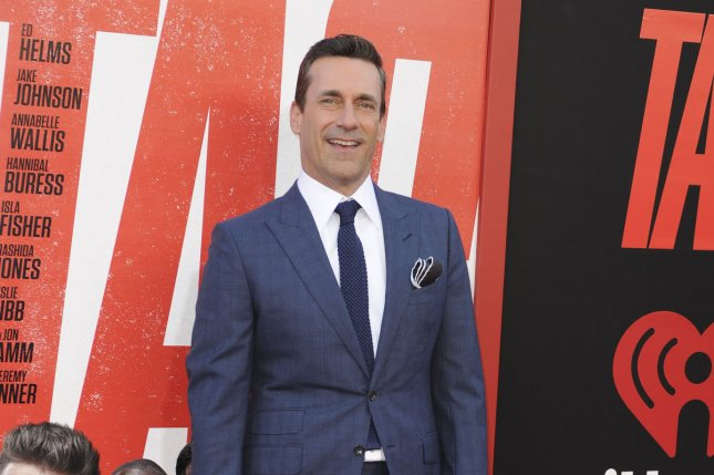 Jon Hamm joins the cast of Top Gun: Maverick along with Ed Harris. File Photo by Patrick Rideaux/UPI