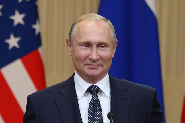 Russian President Vladimir Putin berated former spy Sergei Skripal at an energy summit in Moscow Wednesday. File Photo by David Silpa/UPI