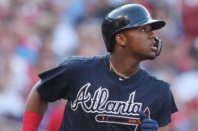 Atlanta Braves center fielder Ronald Acuna Jr. went 3 for 4 with two RBIs, a run scored and a walk in a loss to the St. Louis Cardinals in Game 1 of a National League division series Thursday in Atlanta. Photo by Bill Greenblatt/UPI