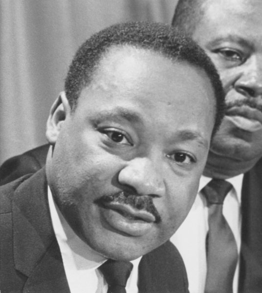 Dr. Martin Luther King, Jr. in a 1968 photo. (UPI Photo)