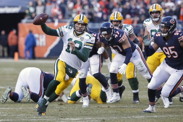 Green Bay Packers quarterback Aaron Rodgers (12) rushes with the ball against the Chicago Bears during the second half on December 16, 2018 at Soldier Field in Chicago. Photo by Kamil Krzaczynski/UPI