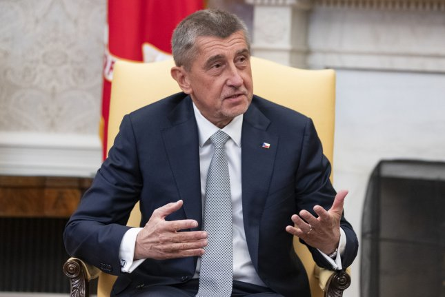 Czech Prime Minister Andrej Babiš said two Russian diplomats made up a story threatening to poison three Czech politicians, including the mayor of Prague. File Photo by Alex Edelman/UPI
