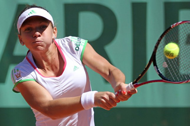 Simona Halep, shown at the 2011 French Open, was a straight-set winner Tuesday as the WTA Tournament of Champions began in Bulgaria. UPI/David Silpa